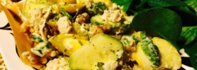 Tuna Dijon Coconut Wrap Recipe with walnuts and spinach